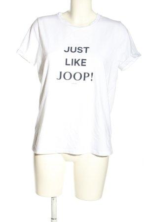 Joop! Camicia fantasia bianco-nero caratteri stampati stile casual