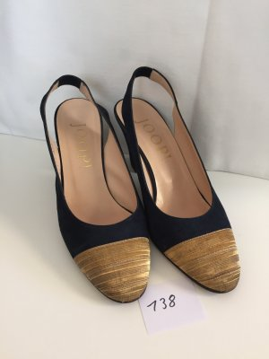 Joop! Slingback Pumps dark blue-gold-colored