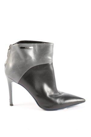 Joop! Reißverschluss-Stiefeletten schwarz-hellgrau Casual-Look