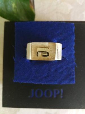 Joop! Zdobiony pierścionek srebrny-złoto