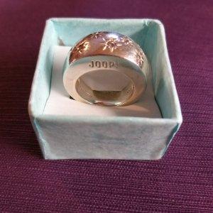JOOP Ring schwer silber innen 17 mm Sterne Steinchen