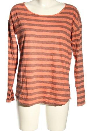 Joop! Maglietta a righe arancione chiaro-marrone puntinato stile casual