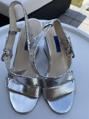 Joop! Plateauzool sandalen zilver