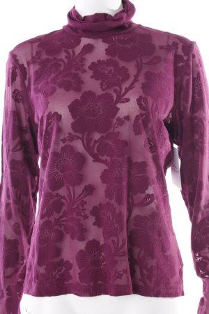 Joop! Schlupf-Bluse purpur florales Muster Casual-Look