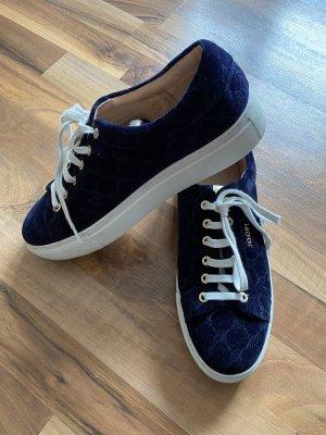 Joop Schuhe/ Sneaker/ Plateau Schuhe/ samtblaue Joop Sneaker