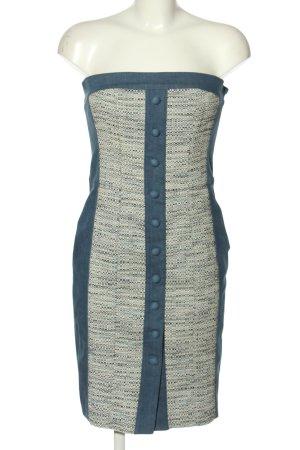 Joop! Vestido strapless azul-gris claro moteado look casual