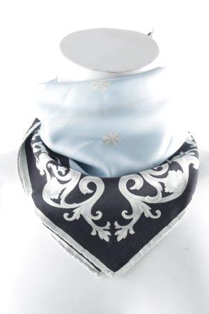 Joop! Seidentuch babyblau-dunkelblau florales Muster Elegant