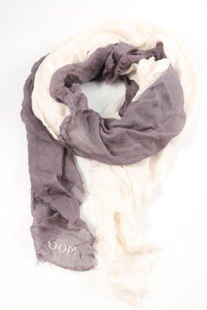 Joop! Summer Scarf light grey-white printed lettering casual look