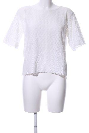 Joop! Blusa de encaje blanco estampado repetido sobre toda la superficie