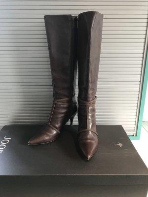 JOOP! Stiefel mit Absatz Gr. 37 1/2 Darkbrown Neuwertig