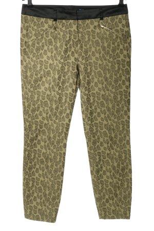Joop! Pantalon en jersey kaki-doré imprimé allover style décontracté