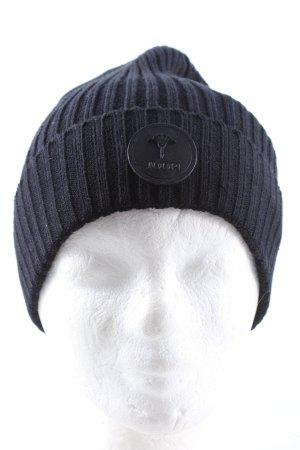 Joop! Chapeau en tricot bleu style décontracté