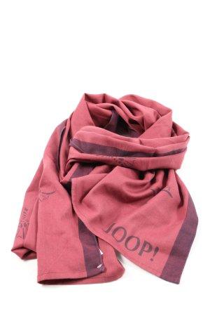 Joop! Bufanda de punto rosa-lila look casual