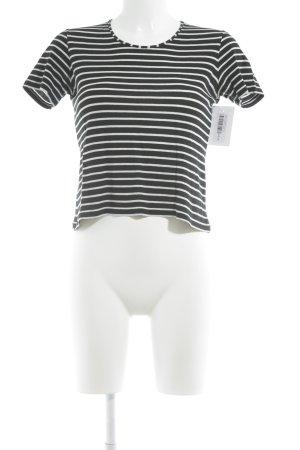 Joop! T-Shirt weiß-schwarz Streifenmuster Casual-Look