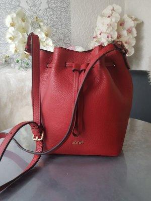 Joop! Tasche Beuteltasche aus echtem Leder rot neuwertig