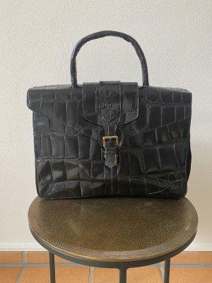 JOOP Tasche in schwarzem Leder (Vintage)
