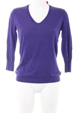 Joop! V-Ausschnitt-Pullover lila Casual-Look