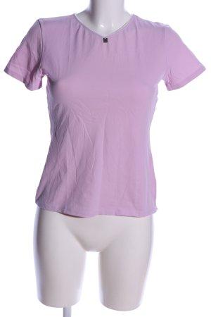 Joop! V-Ausschnitt-Shirt lila Casual-Look