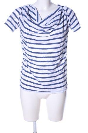 Joop! Camisa con cuello caído blanco-azul look casual