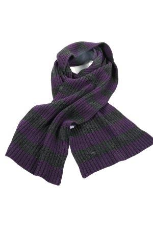 Joop! Bufanda de lana gris claro-lila estampado a rayas look casual