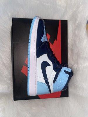 Air Jordan Zapatillas altas blanco-azul bebé