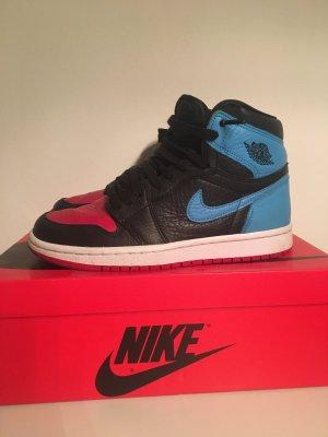 Air Jordan Zapatilla brogue rojo oscuro-azul aciano