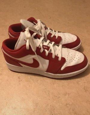 Air Jordan Lace-Up Sneaker red-white