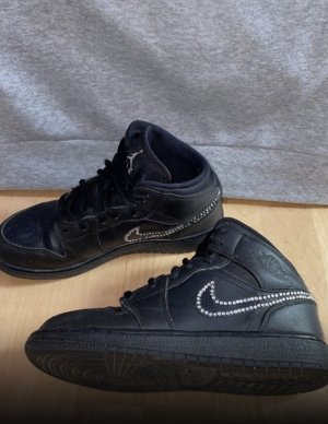 Air Jordan Zapatillas altas negro-color plata
