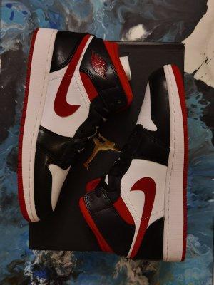 Air Jordan Sneaker alta nero-rosso