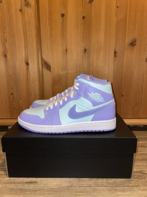 Jordan 1 Mid Purple Aqua