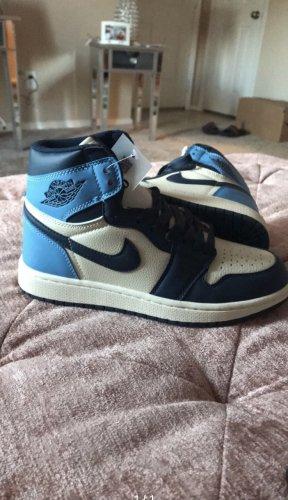 Air Jordan High Top Sneaker neon blue-blue