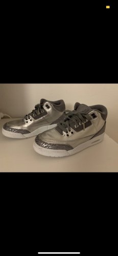Nike Sneaker con tacco argento-bianco