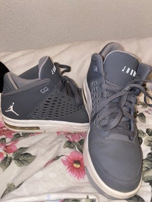 Air Jordan Lace-Up Sneaker white-grey