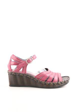 Josef seibel Plateau-Sandaletten pink-braun Casual-Look
