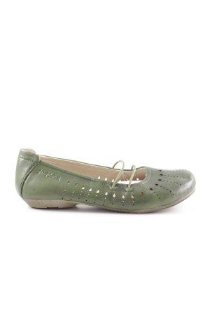 Josef seibel Riemchen Ballerinas grün Punktemuster Business-Look