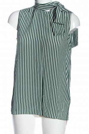 Joseph Blouse sans manche blanc-vert motif rayé style décontracté