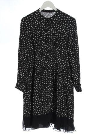 Joseph Janard Robe Babydoll noir motif abstrait élégant