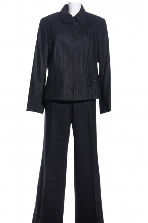 Joseph Janard Business-Anzug schwarz-hellgrau Streifenmuster Business-Look