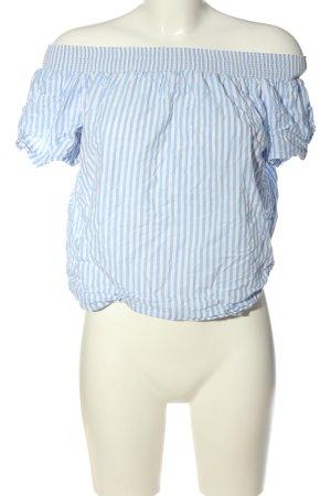 Joseph Janard Carmen Blouse blue-white striped pattern casual look