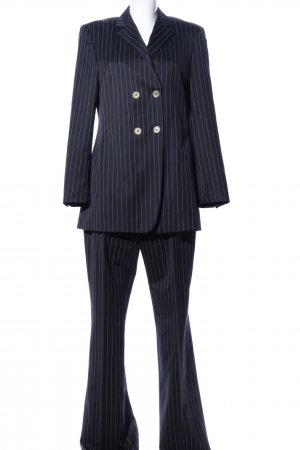 Joseph Janard Pinstripe Suit black striped pattern business style