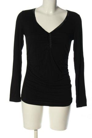 Joseph Janard V-Ausschnitt-Shirt schwarz Casual-Look