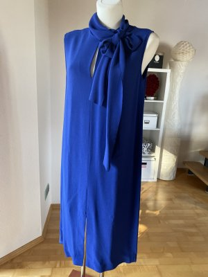 Joseph Kleid mit Schleifenkragen Schalkragen royalblau blau Schluppe