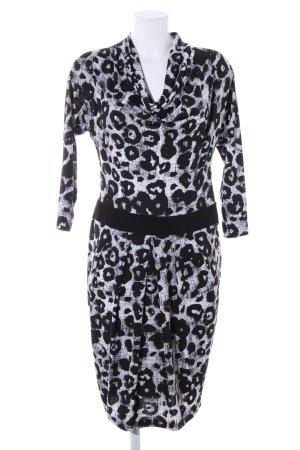 Joseph Ribkoff A-Linien Kleid schwarz-weiß Allover-Druck Casual-Look