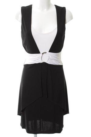 Joseph Ribkoff Abendkleid schwarz-weiß Casual-Look