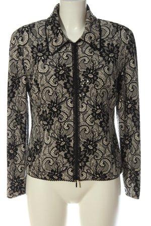 Joseph Ribkoff Blouson black-natural white allover print elegant
