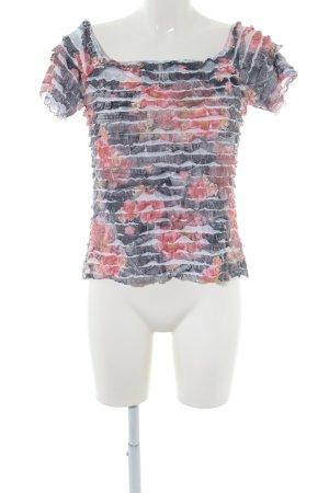 Joseph Ribkoff Cropped Shirt Blumenmuster Casual-Look