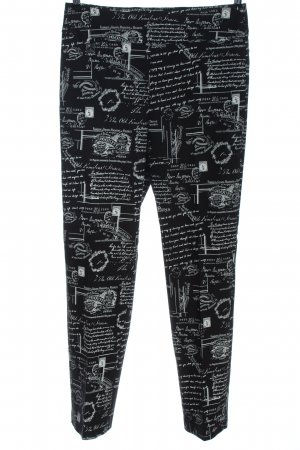 Joseph Ribkoff High Waist Trousers black-white themed print casual look