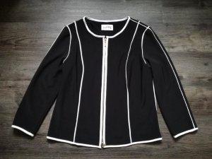 *Joseph Ribkoff* hochpreisiger Blazer / schwarz mit weißen Streifen / Gr. 42 – neuwertig!