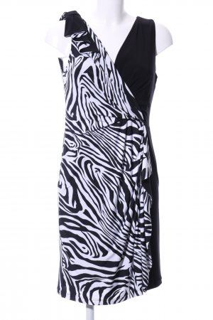 Joseph Ribkoff Jerseykleid schwarz-weiß Animalmuster Casual-Look