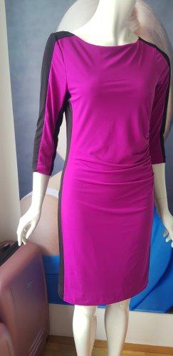 Joseph Ribkoff Sukienka ze stretchu czarny-fioletowy